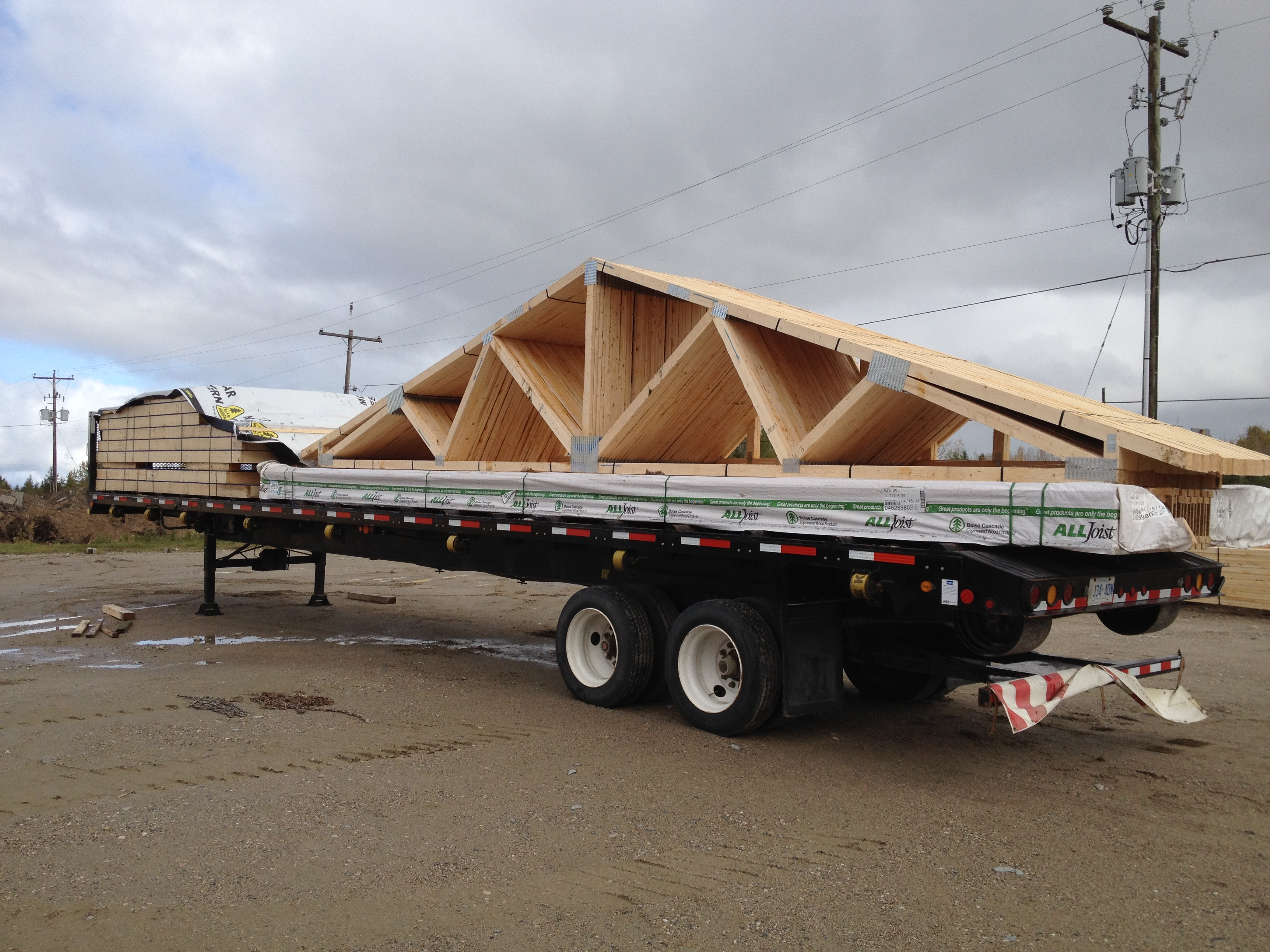 Pin roof pitch on pinterest for Pre engineered trusses